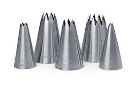 Stjernemunnstykker 5stk, 2-18mm