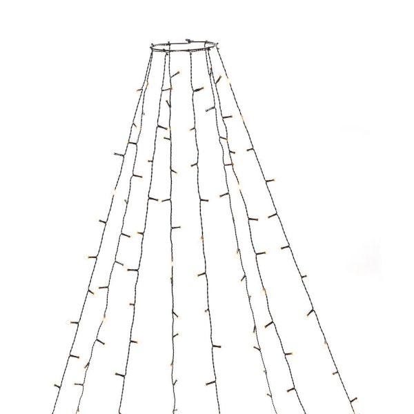 Konstsmide 6394-820 Juletresløyfe 8 sløyfer, LED, 240 cm