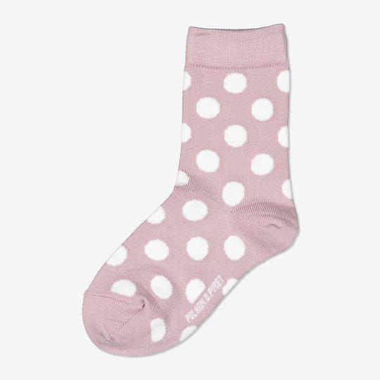 Merinoull sokker med prikker lyselilla