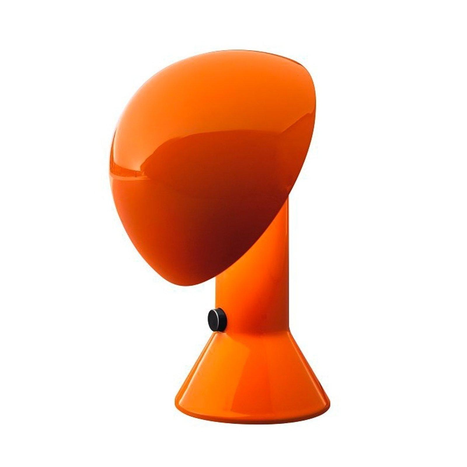 Design-bordlampe ELMETTO, oransje