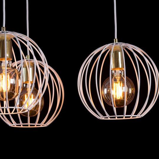 Vegglampe Albio K1 i hvit med burskjerm