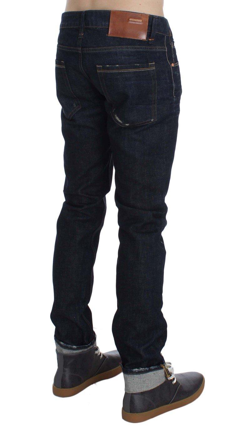 ACHT Men's Wash Cotton Slim Skinny Fit Jeans Blue SIG30627 - W34
