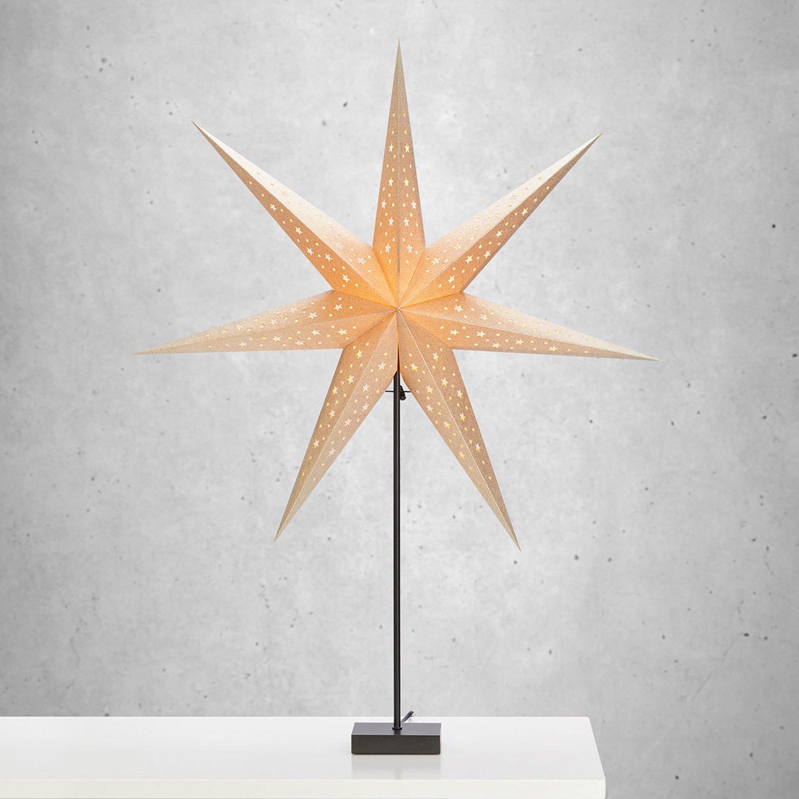 Stående stjerne Solvalla - høyde 100 cm gull