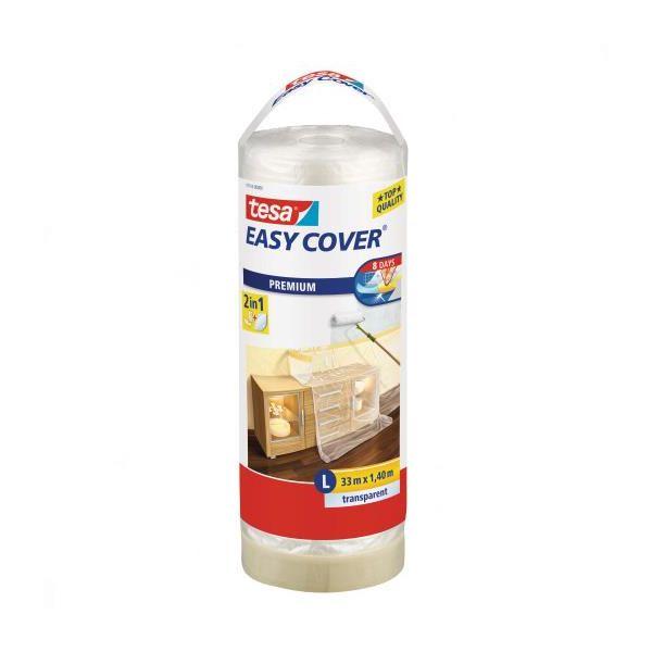 Tesa Easy Cover 4368 Trekkduk med maskeringstape 33 m x 1400 mm, ekstra rull