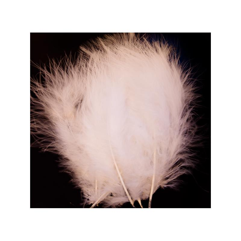 Marabou Blood Quill - White