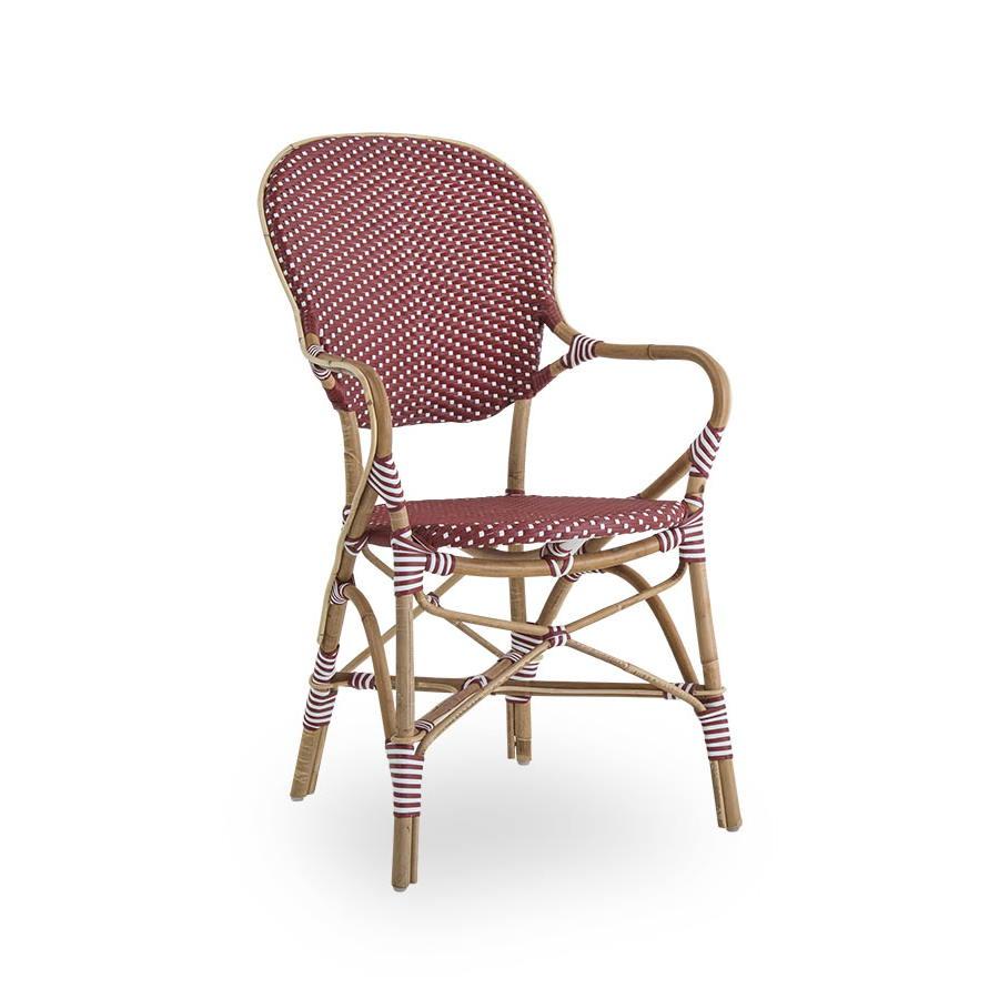Isabell caféstol karmstol burgundi Sika-design