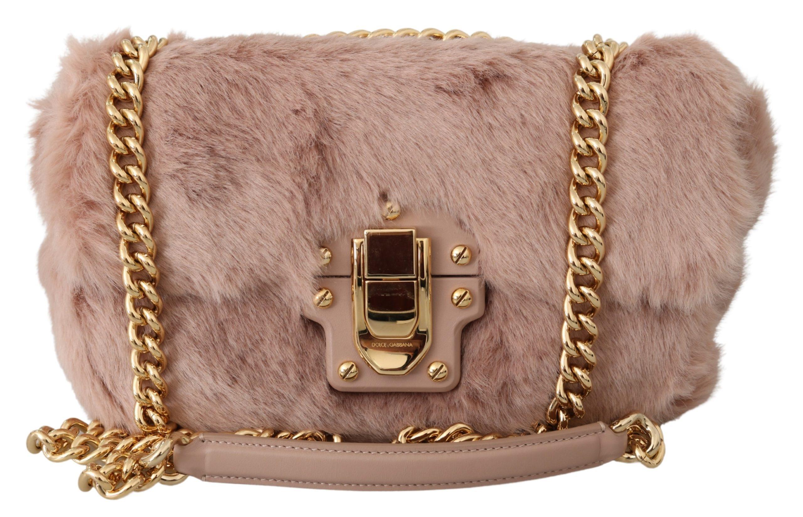 Pink Fur LUCIA Hand Shoulder Messenger Purse