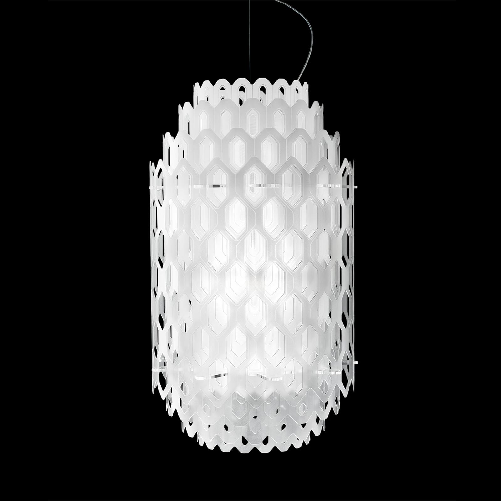 Valkoinen design-LED-riippuvalaisin Chantal