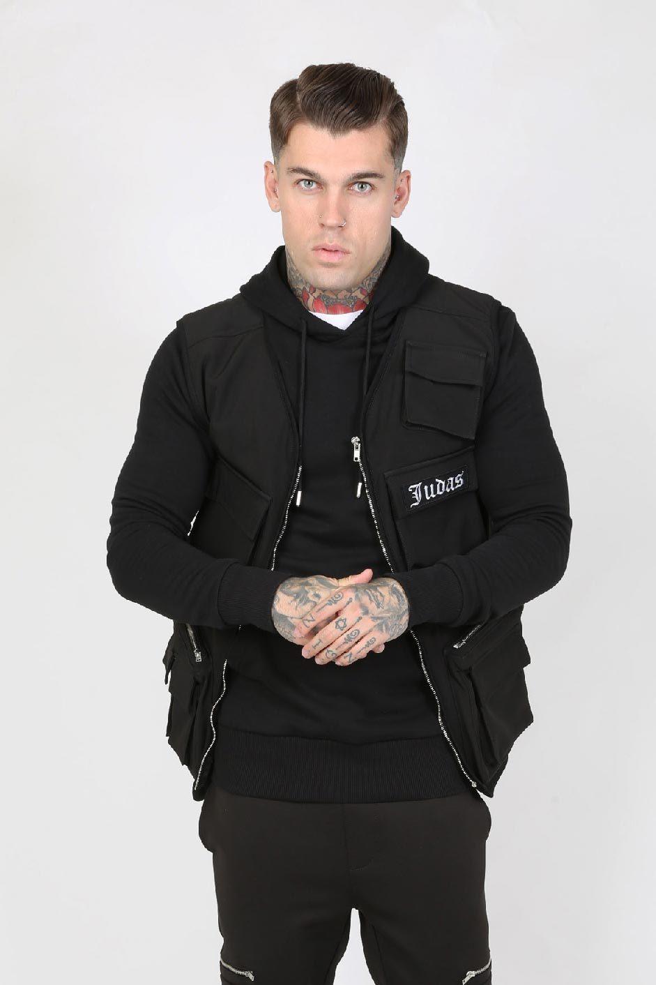 Couver Nylon Pocket Men's Utility Vest - Black, Medium