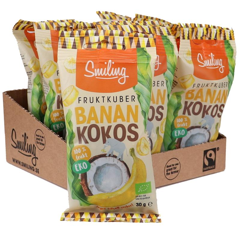 Eko Fruktkuber Banan/Kokos 12-pack - 24% rabatt
