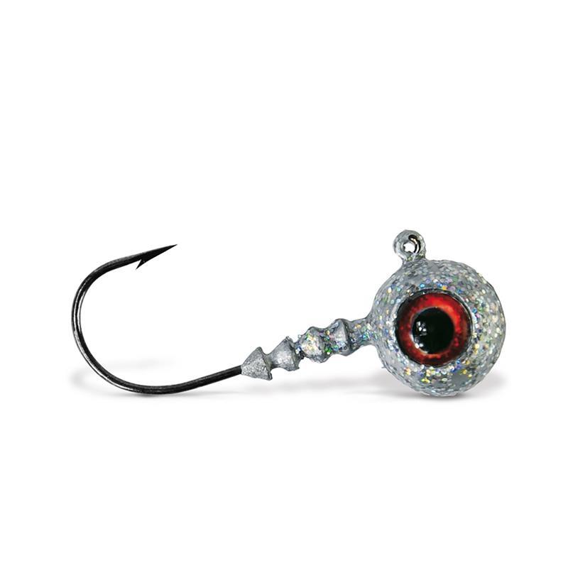 VMC Big Eye Jigghode Sølv 14g Rundt Jigghode med øye og sterk krok