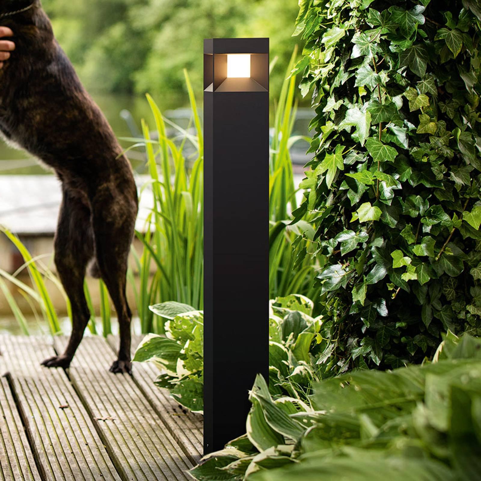 Parterre – musta LED-pylväsvalaisin