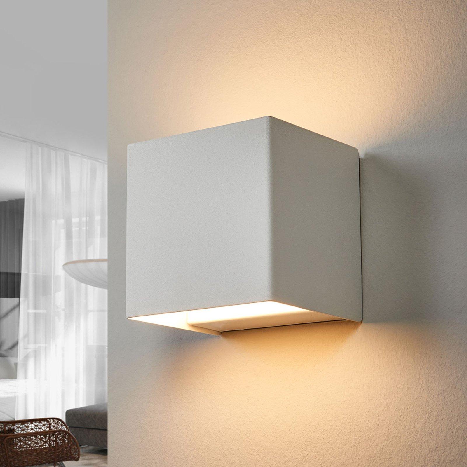 LED-vegglampe Kimberly, 9x9cm, hvit