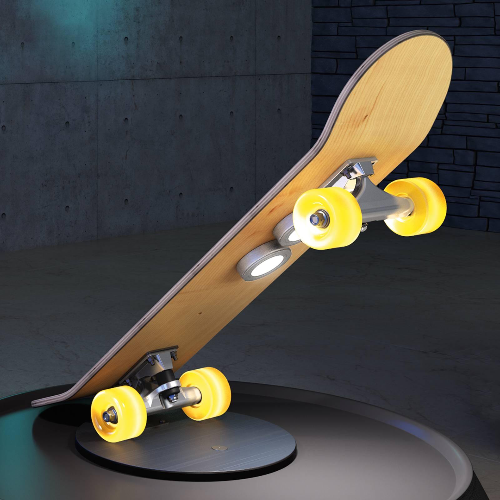 Rullalautamainen Light Cruiser-LED-pöytävalaisin
