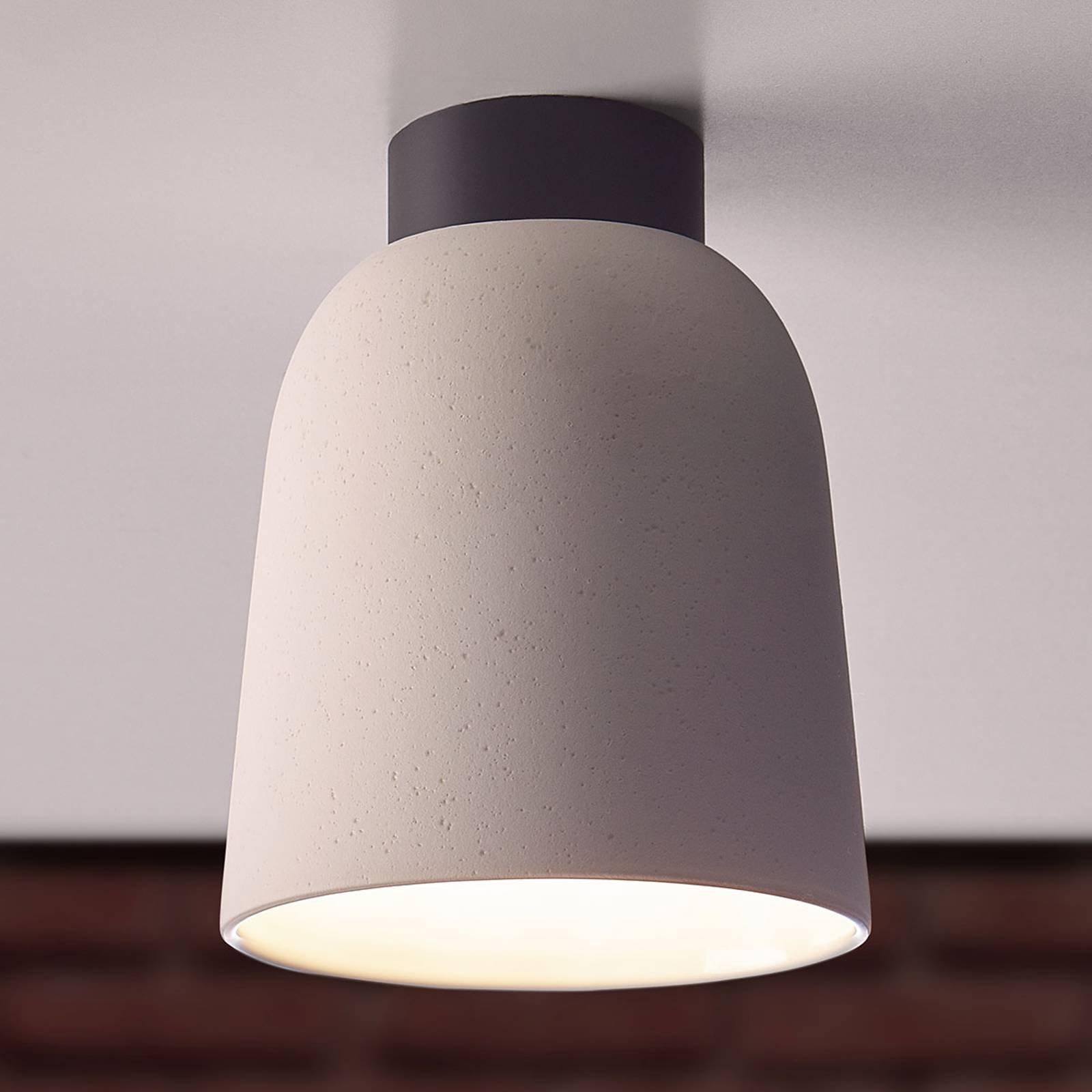 Casablanca Clavio keramisk taklampe i kremhvit