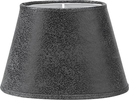 Lampskärm Oval Läder Gråsvart