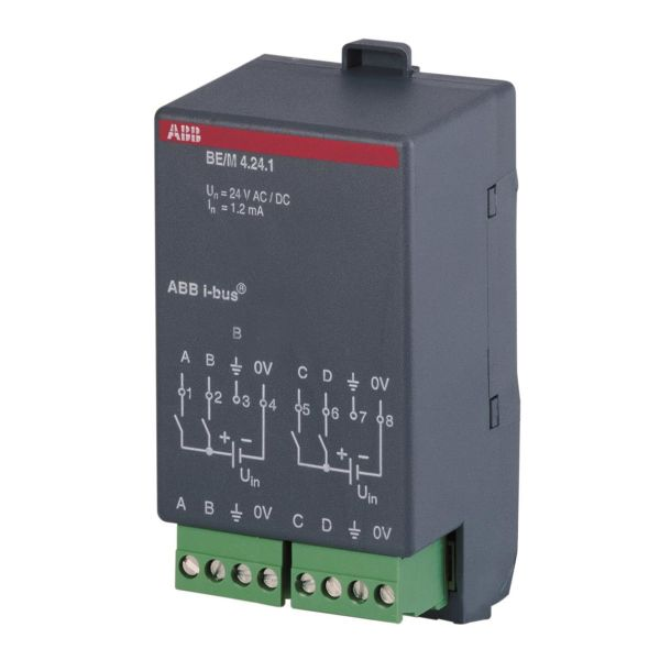 ABB 2CDG110006R0011 Binäärivastaanotin 4 kanavaa KNX 12–24 V, AC/DC
