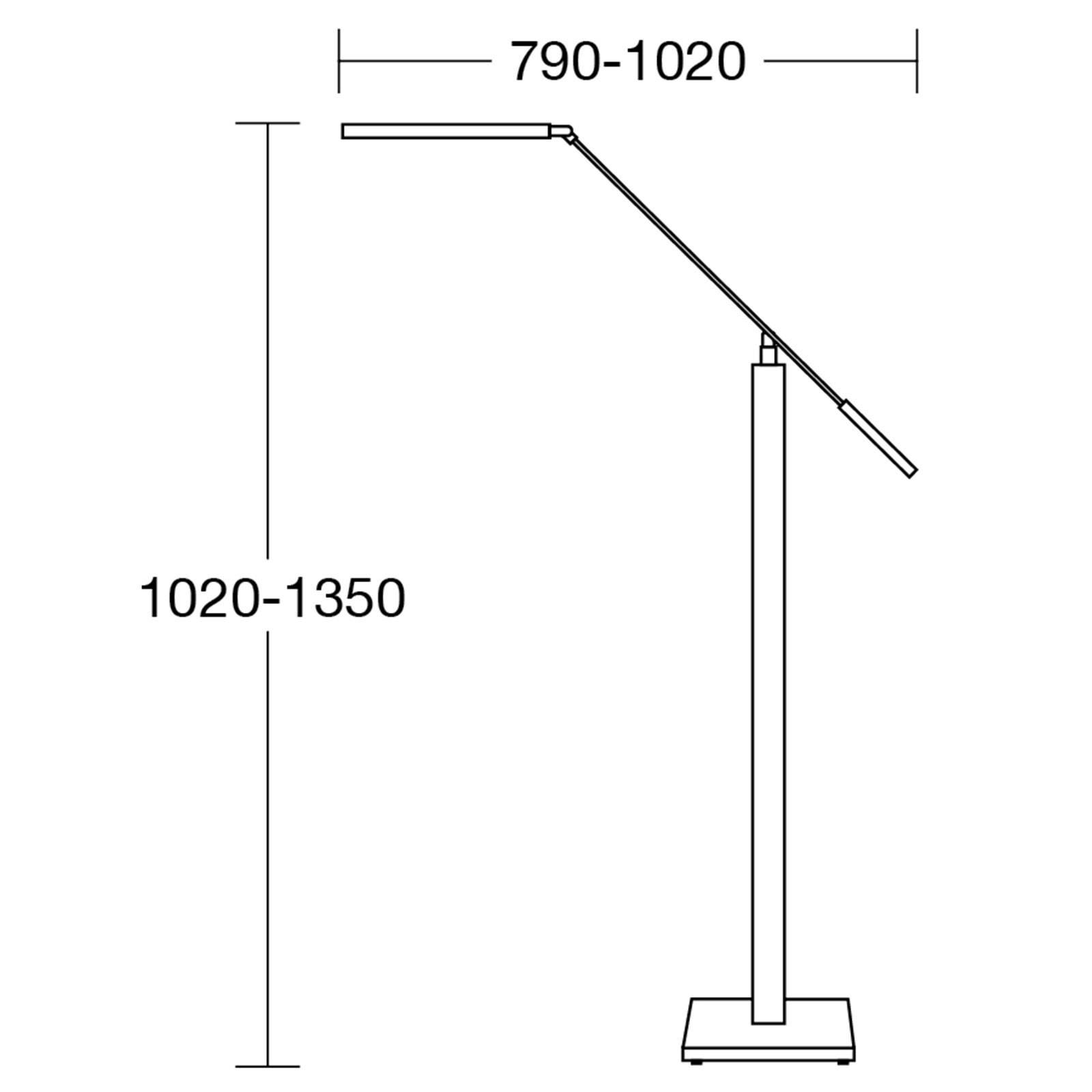 HerzBlut Otto O -LED-lattia-/lukuvalaisin, tammi