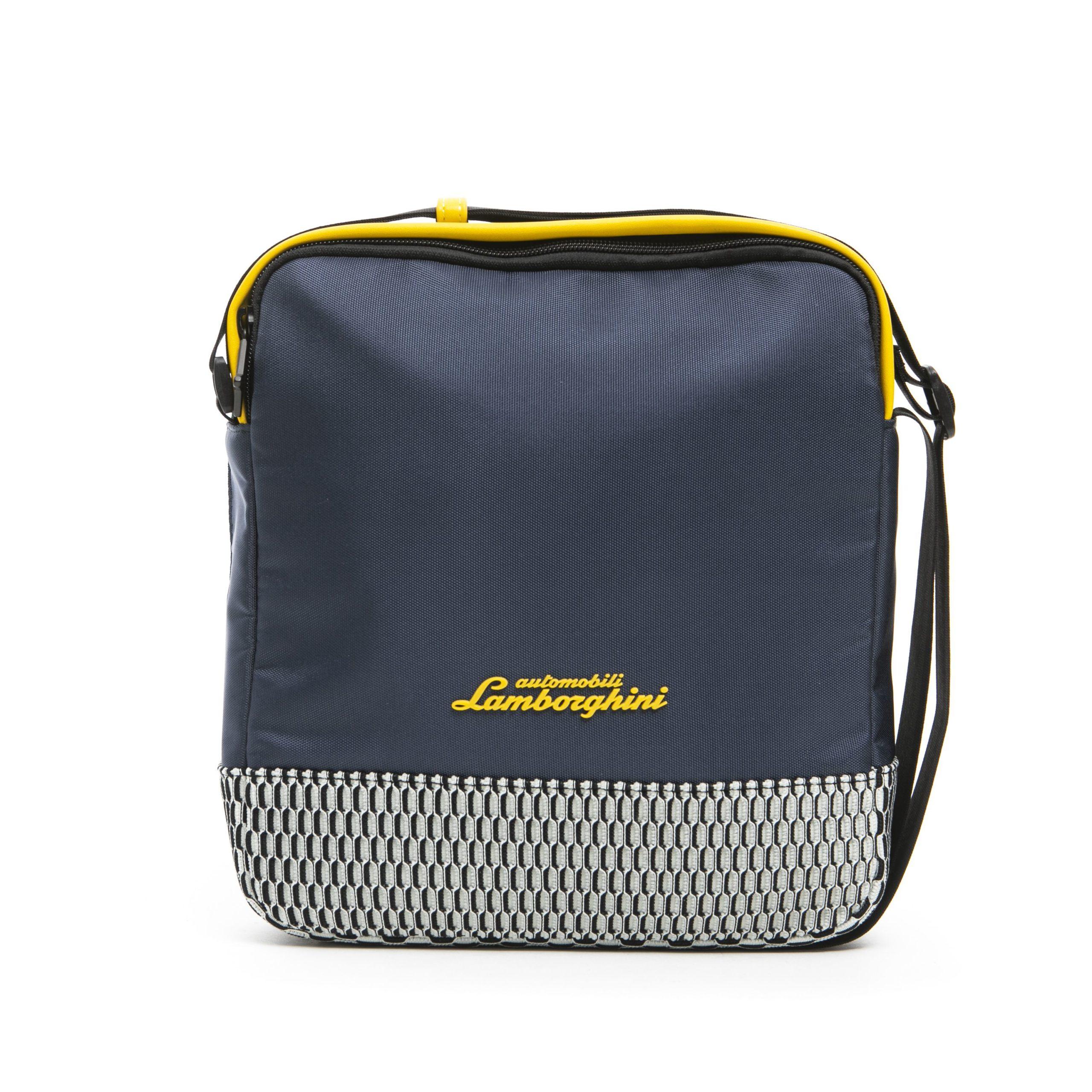 Lamborghini Men's Messenger Bag Blue LA1265759