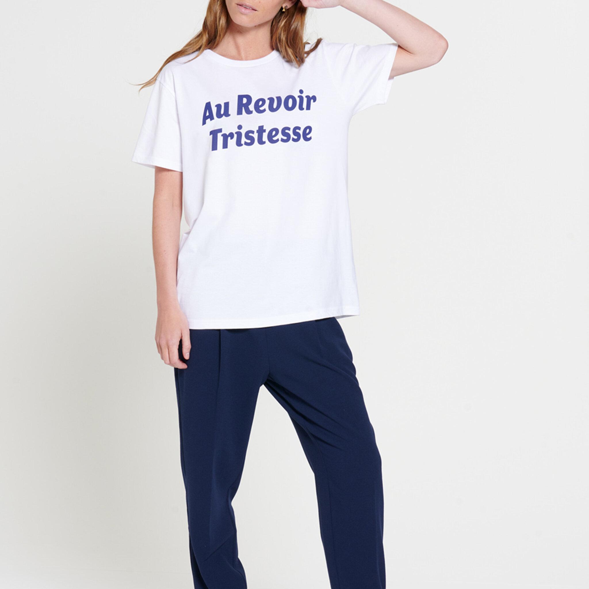 Au Revoir Tristesse - T-shirt Med Tryck