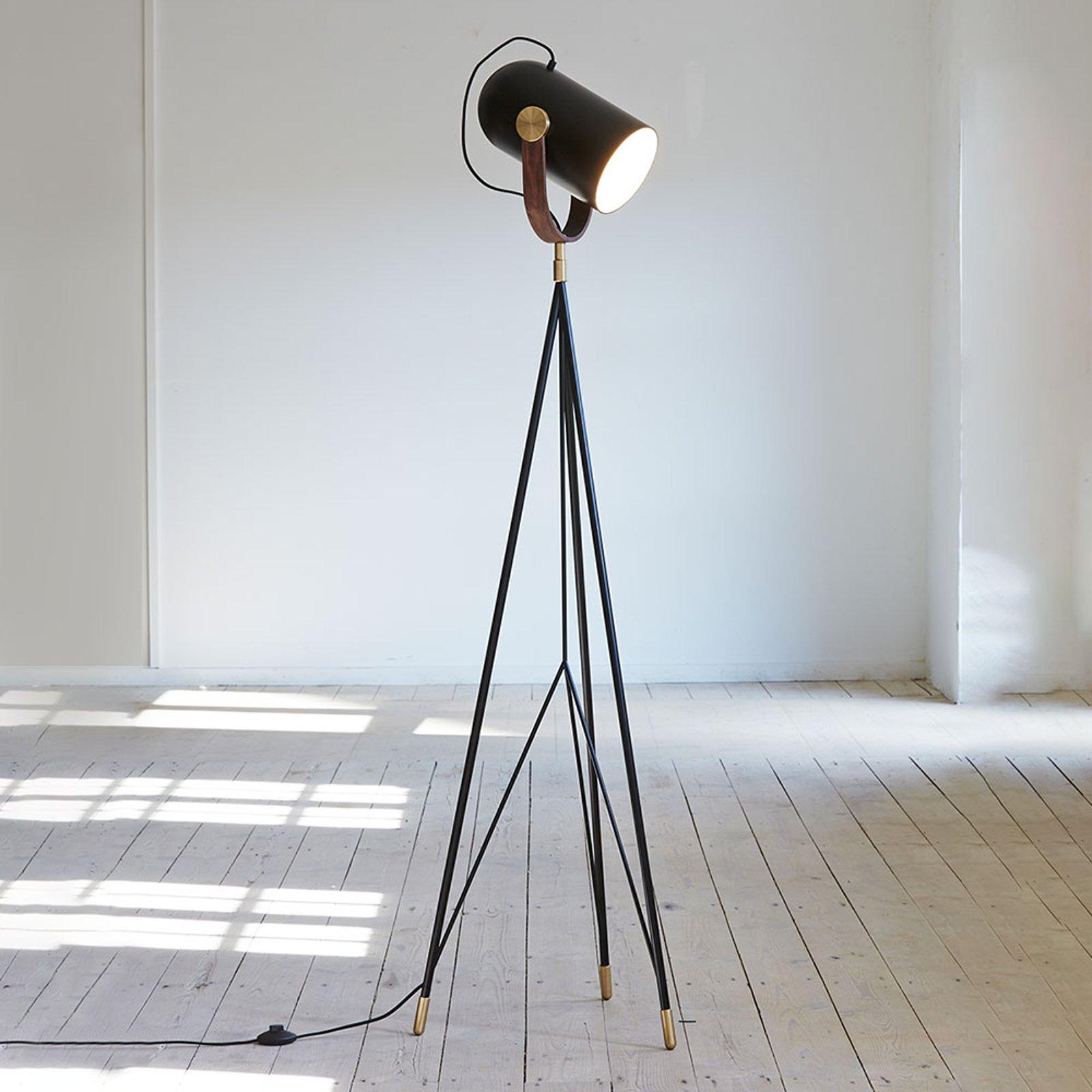 LE KLINT Carronade High - svart gulvlampe