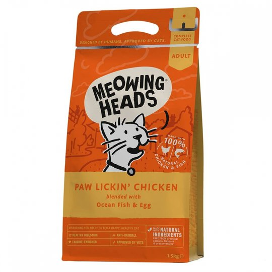 Meowing Heads Paw Lickin Chicken (450 g)