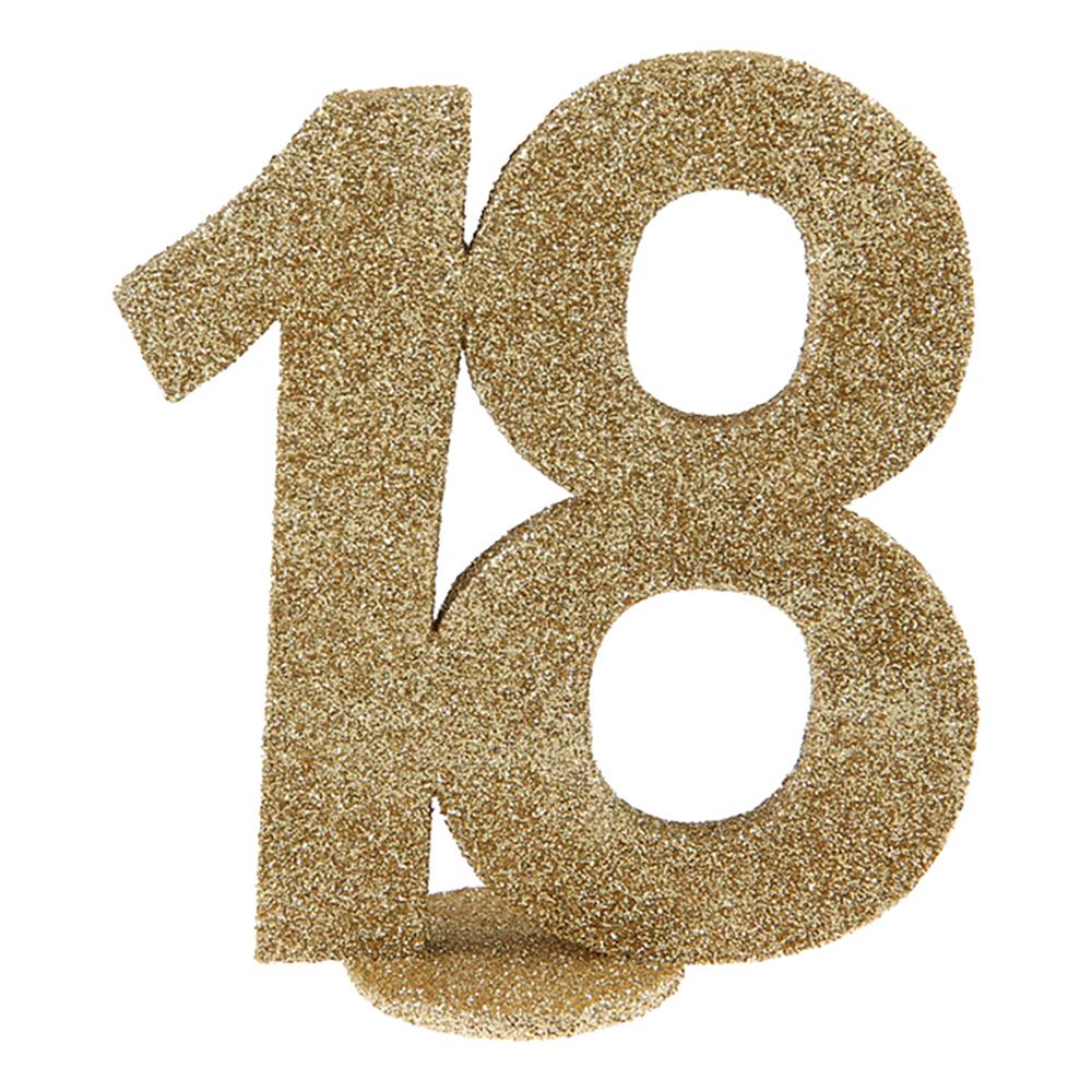 Bordsdekoration Siffra Guld/Glitter - Siffra 18