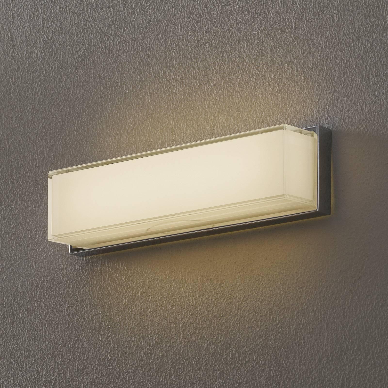 Helestra Cosi LED-vegglampe, krom, høyde 31 cm