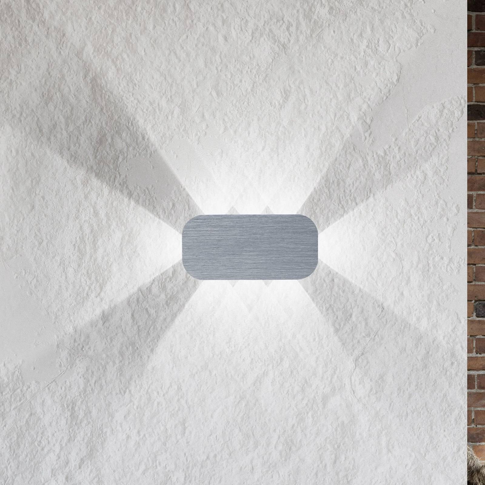 B-Leuchten Prince seinävalo 8-lampp. vaaleanharmaa