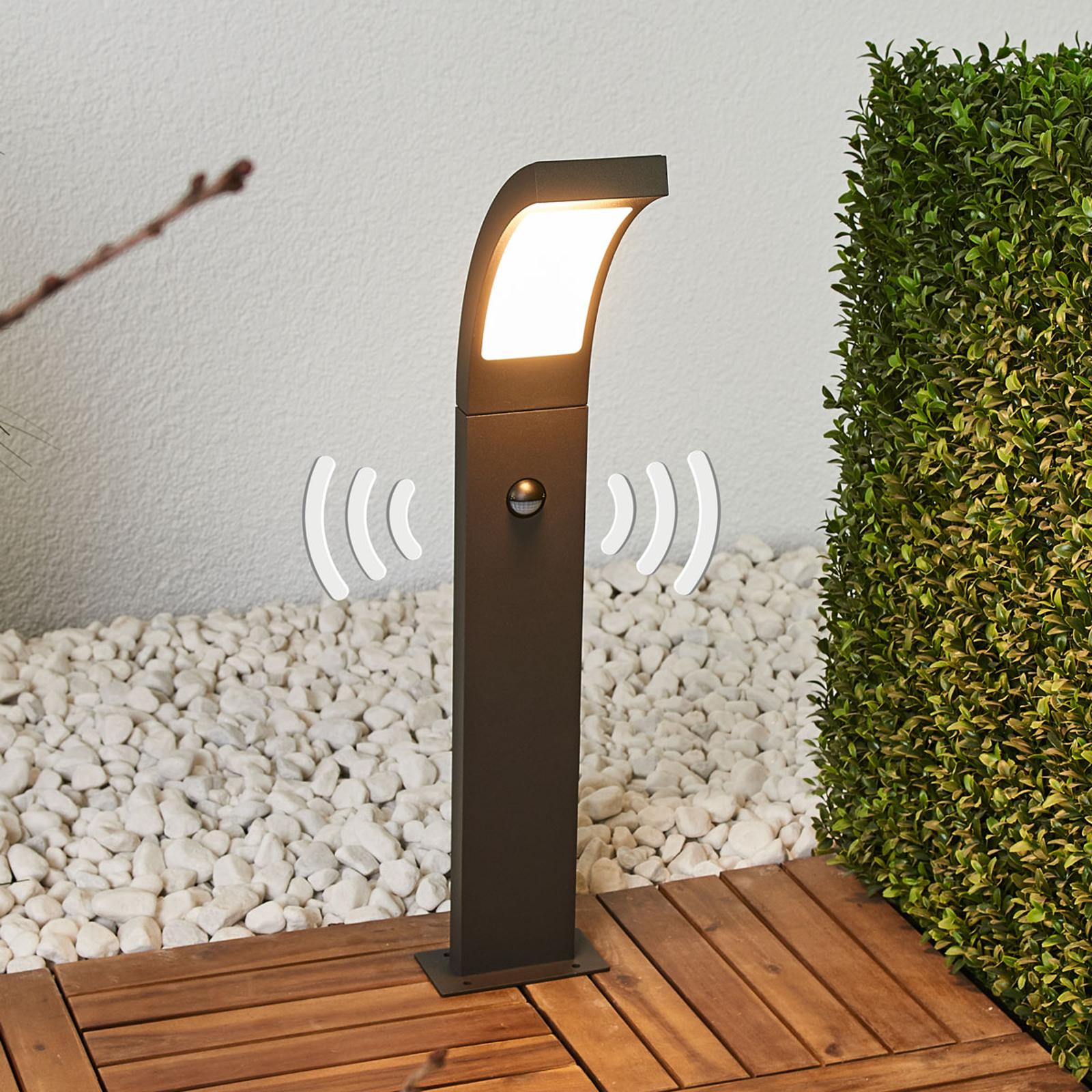 LED-pylväsvalaisin Juvia liiketunnistimella