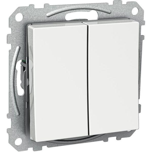 Schneider Electric Exxact WDE002126 Kytkin nelikulmainen keinuvipu, kourilla, kaksoisportaikko