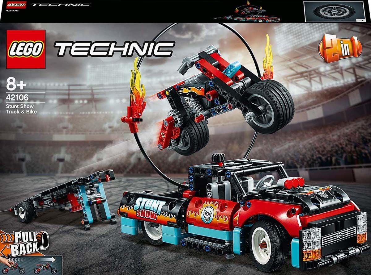 LEGO Technic 42106 Stunttishow'n Kuorma-auto ja Pyorä