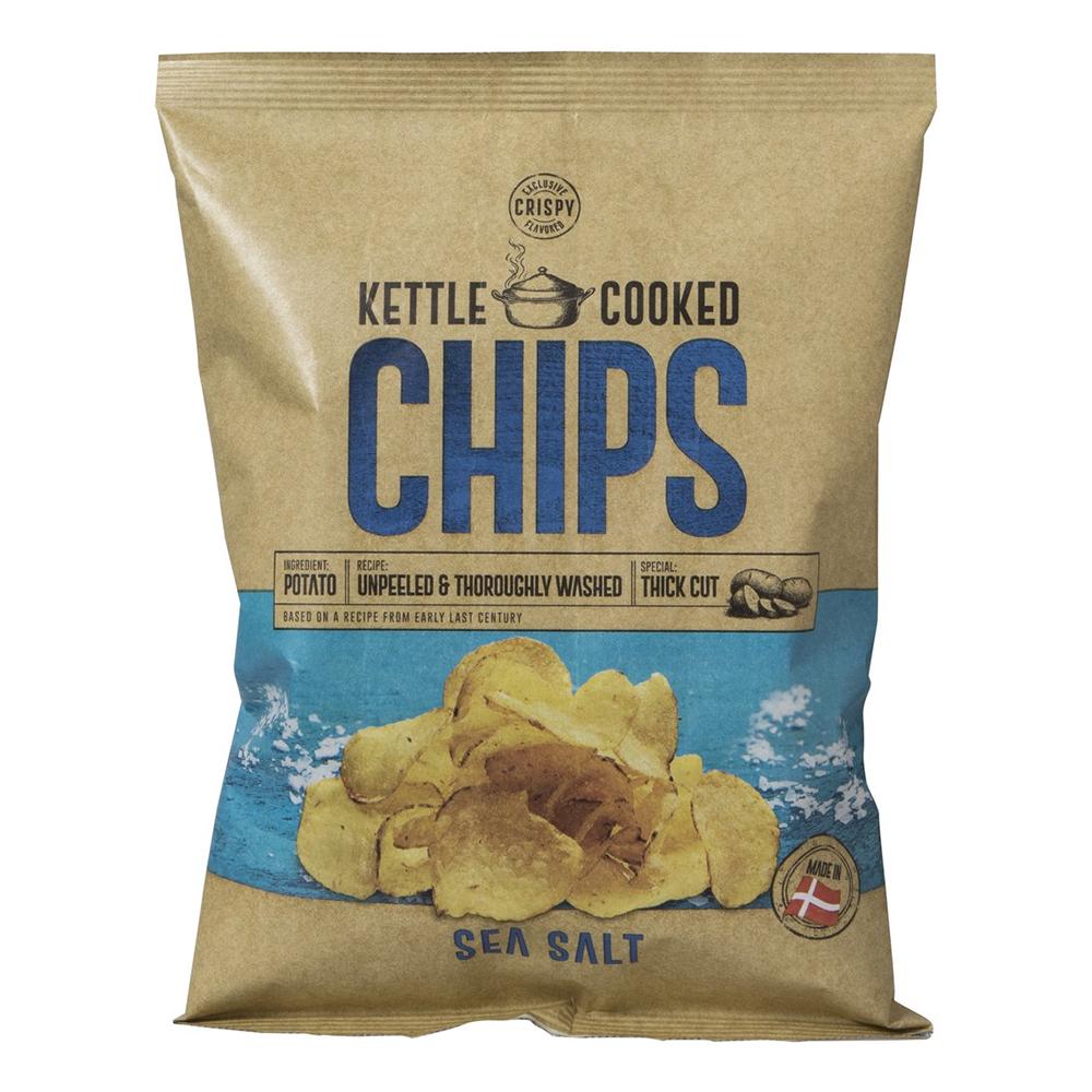 Kettle Cooked Seasalt Chips - 150 gram