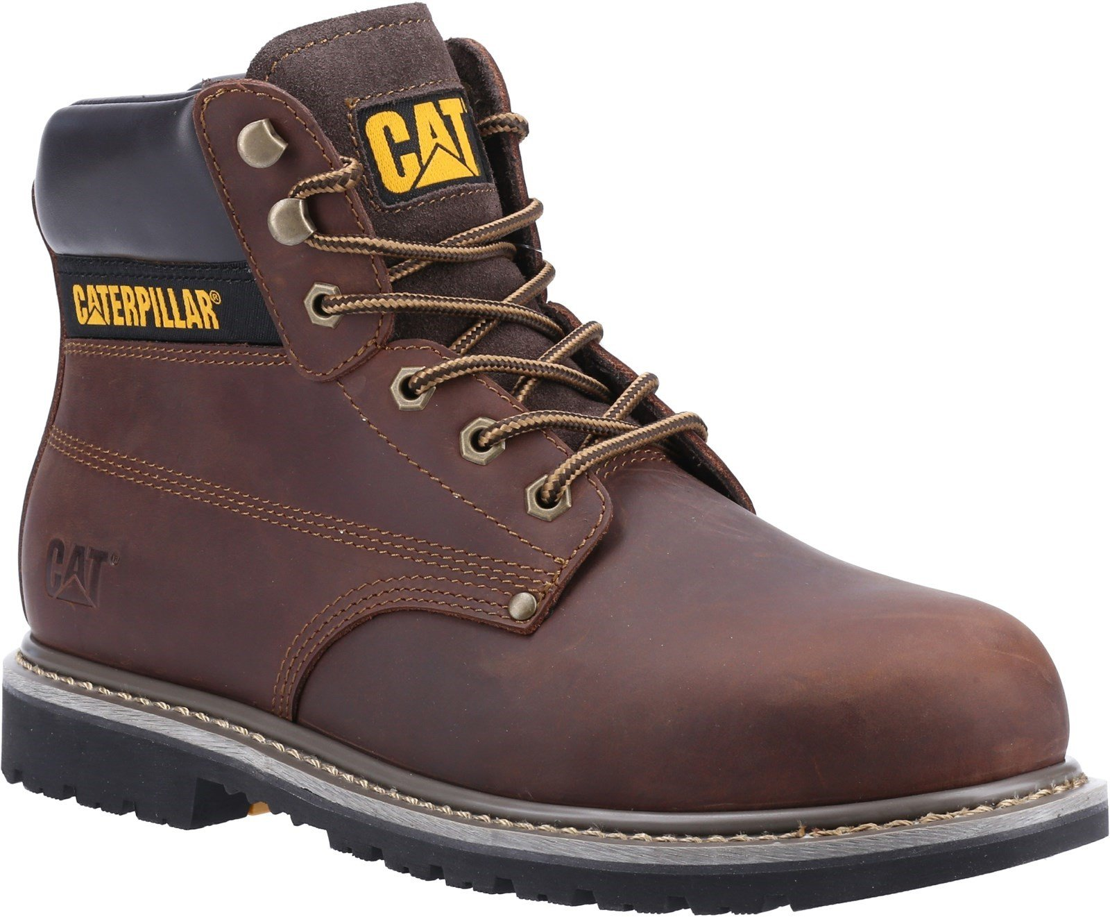 Caterpillar Unisex Powerplant S3 GYW Safety Boot Various Colours 32630 - Brown 6