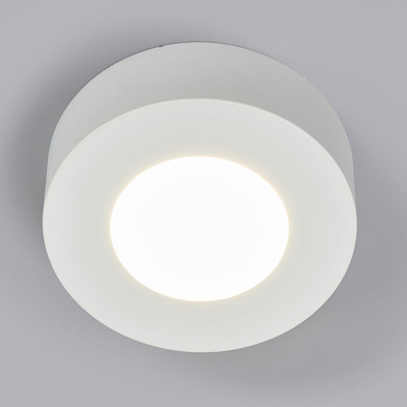 LED-taklampe Marlo, hvit, 4 000 K rund 12,8cm