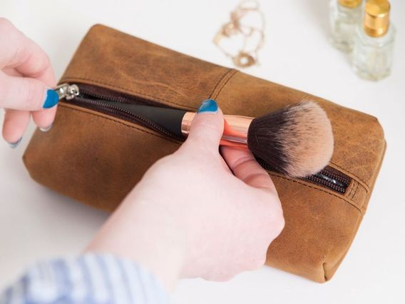 Leather Make Up Case Small