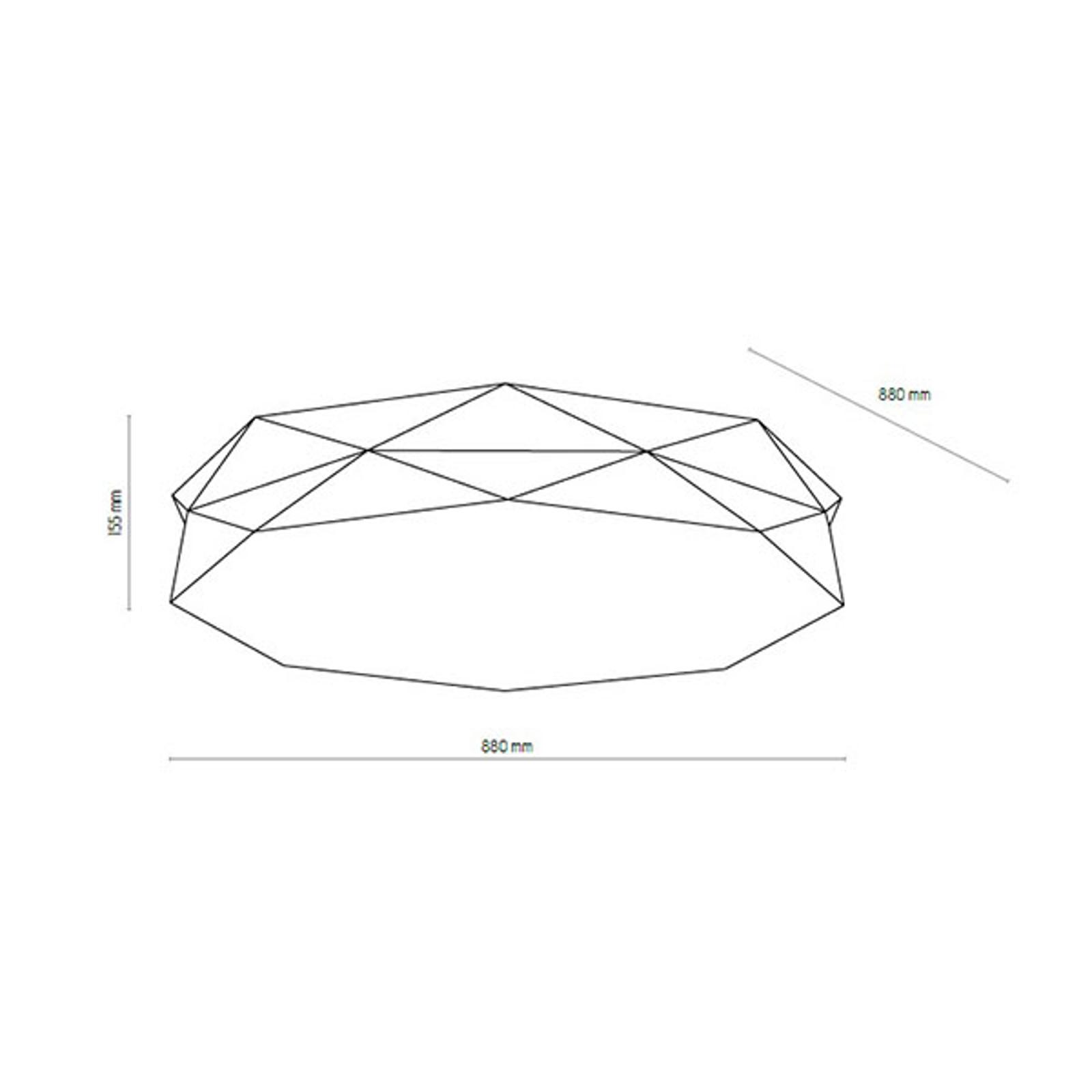 Kattovalaisin Kantoor New, Ø 88 cm, musta