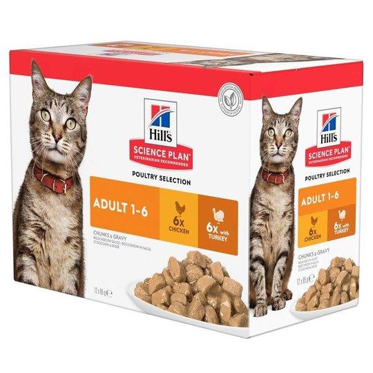 Hill's Science Plan Cat Adult Chicken & Turkey 12x85 g