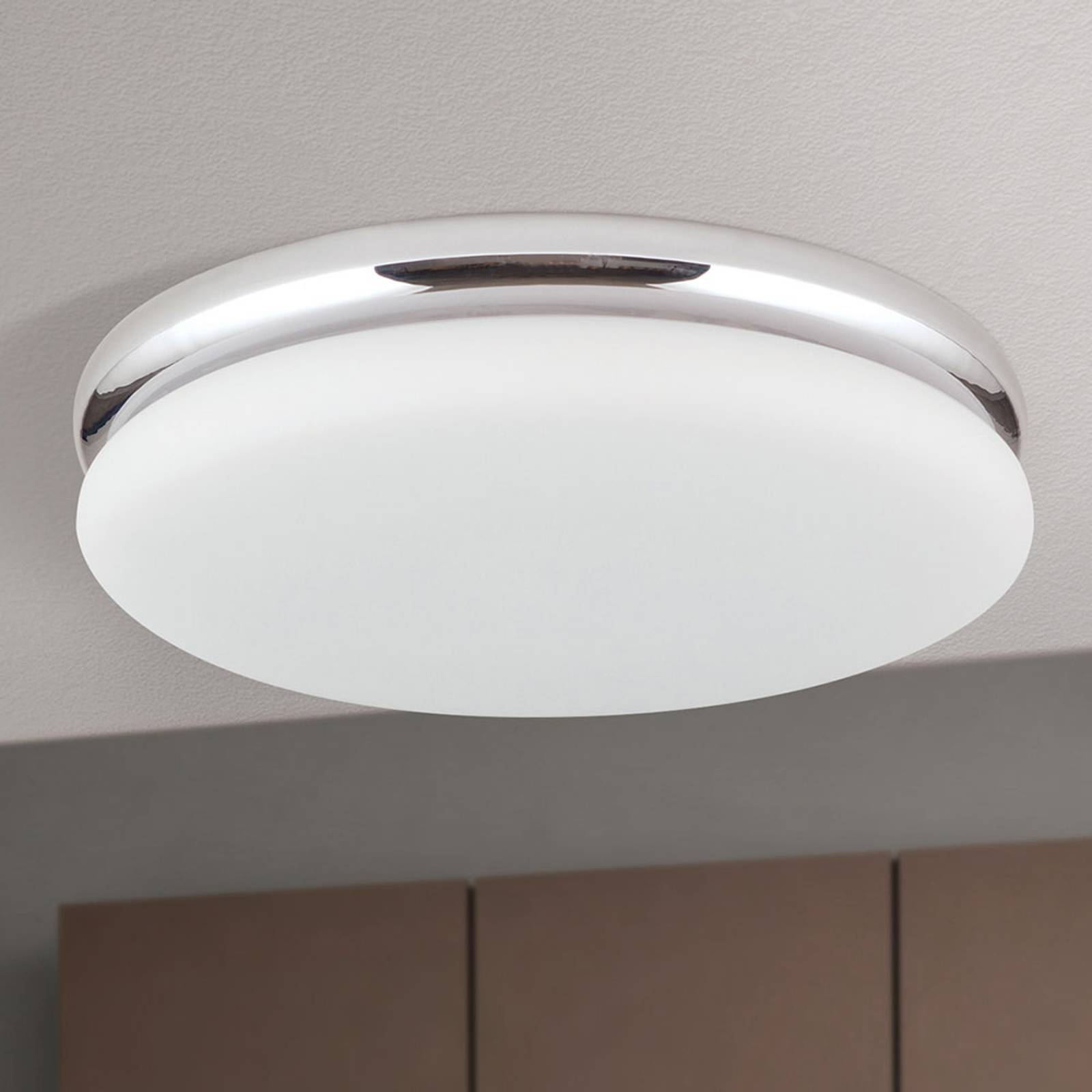 LED-kattovalaisin James, metallirunko, kromattu