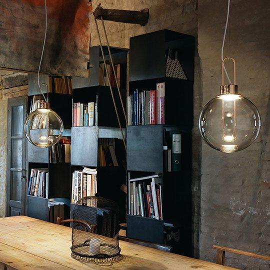 Modo Luce Orb LED-hengelampe, kobber, Ø 25 cm