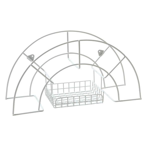 Nyby Bruk 6017-1 Slangeholder med kurv Hvit, 6-pakning