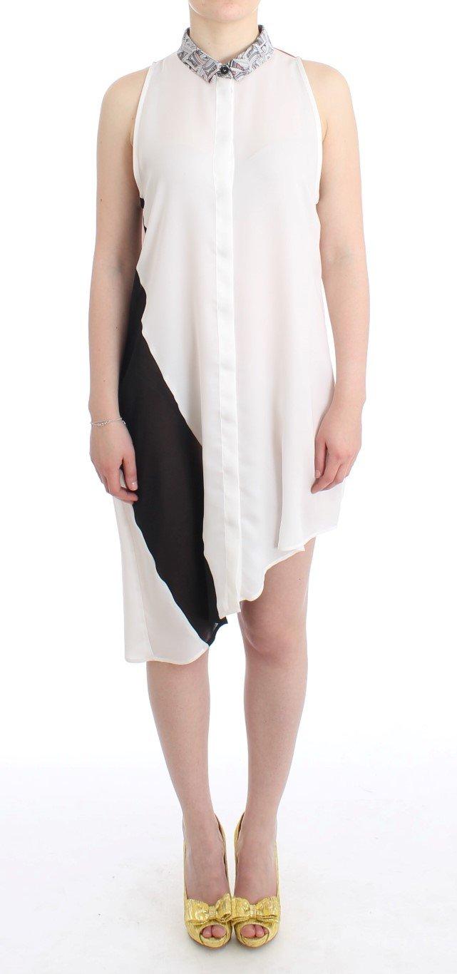 Costume National Women's Assymetric hem Dress White SIG11647 - IT46|XL