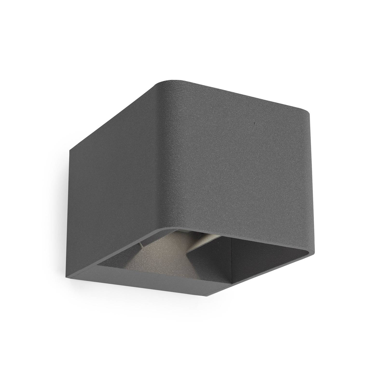 LEDS-C4 Wilson -LED-seinälamppu 11 cm antrasiitti