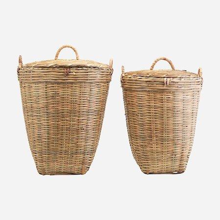 Kurver Sett med 2 størrelser Bambus h: 58 cm & h: 48 cm
