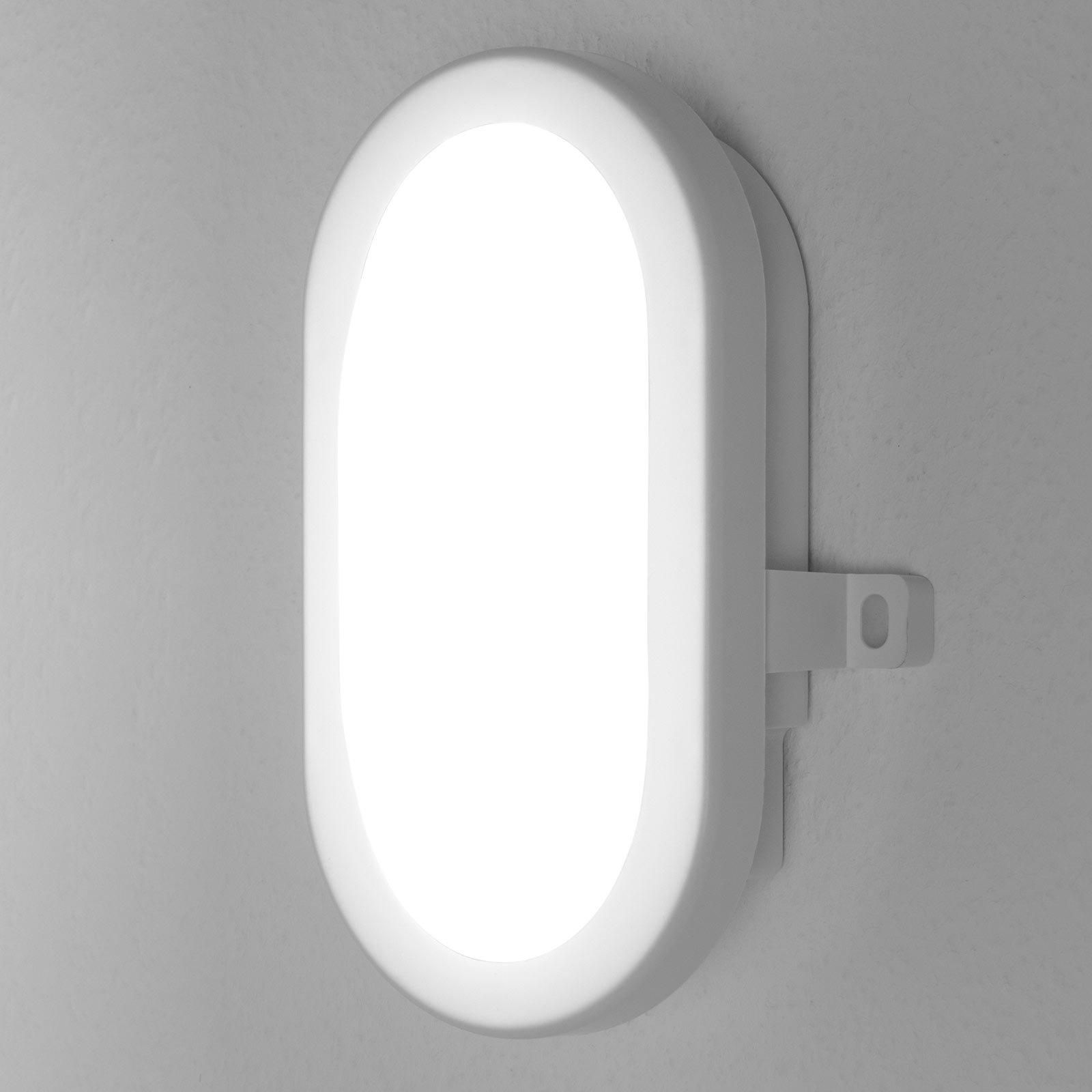 LEDVANCE Bulkhead utendørs LED-vegglampe 5,5W hvit