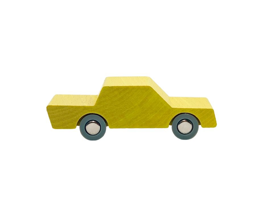 Waytoplay - Back and Forth Wooden Car - Yellow