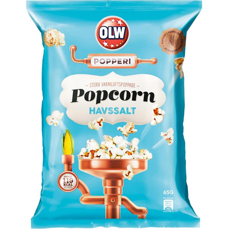 Popcorn Havssalt 65g - 7% rabatt
