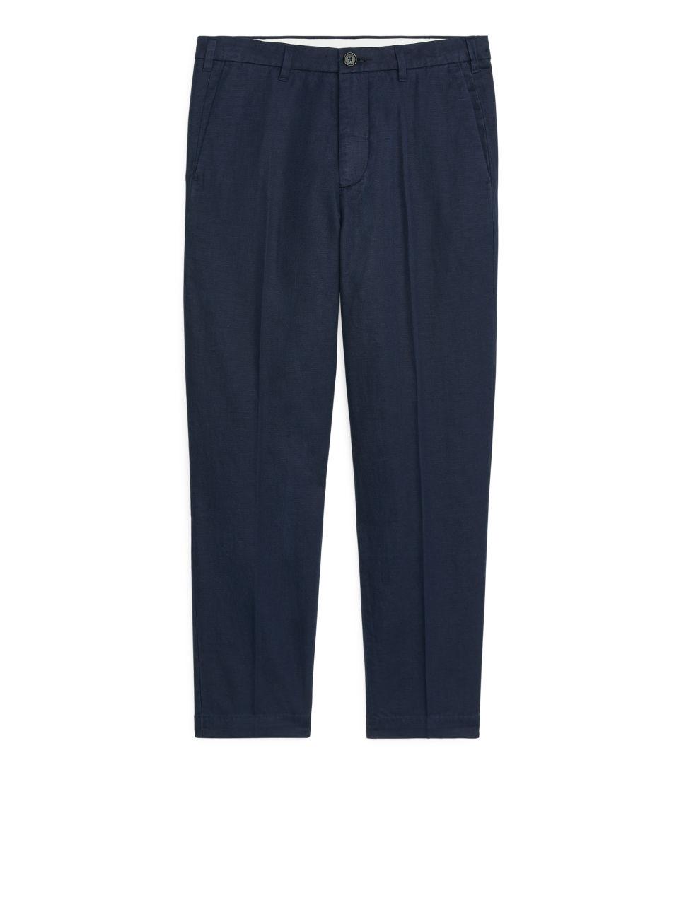 Regular Trousers Cotton Linen - Blue