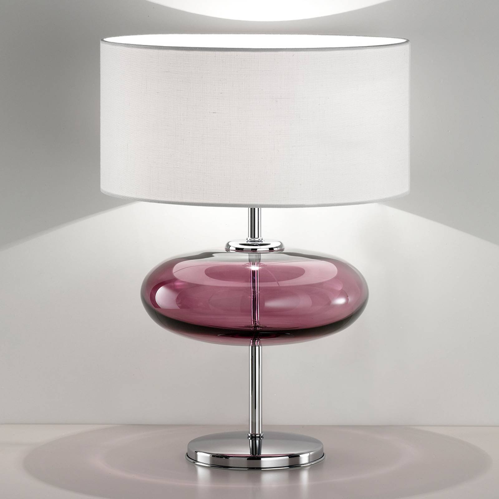Bordlampe Show Elisse 62 cm glasselement rosa