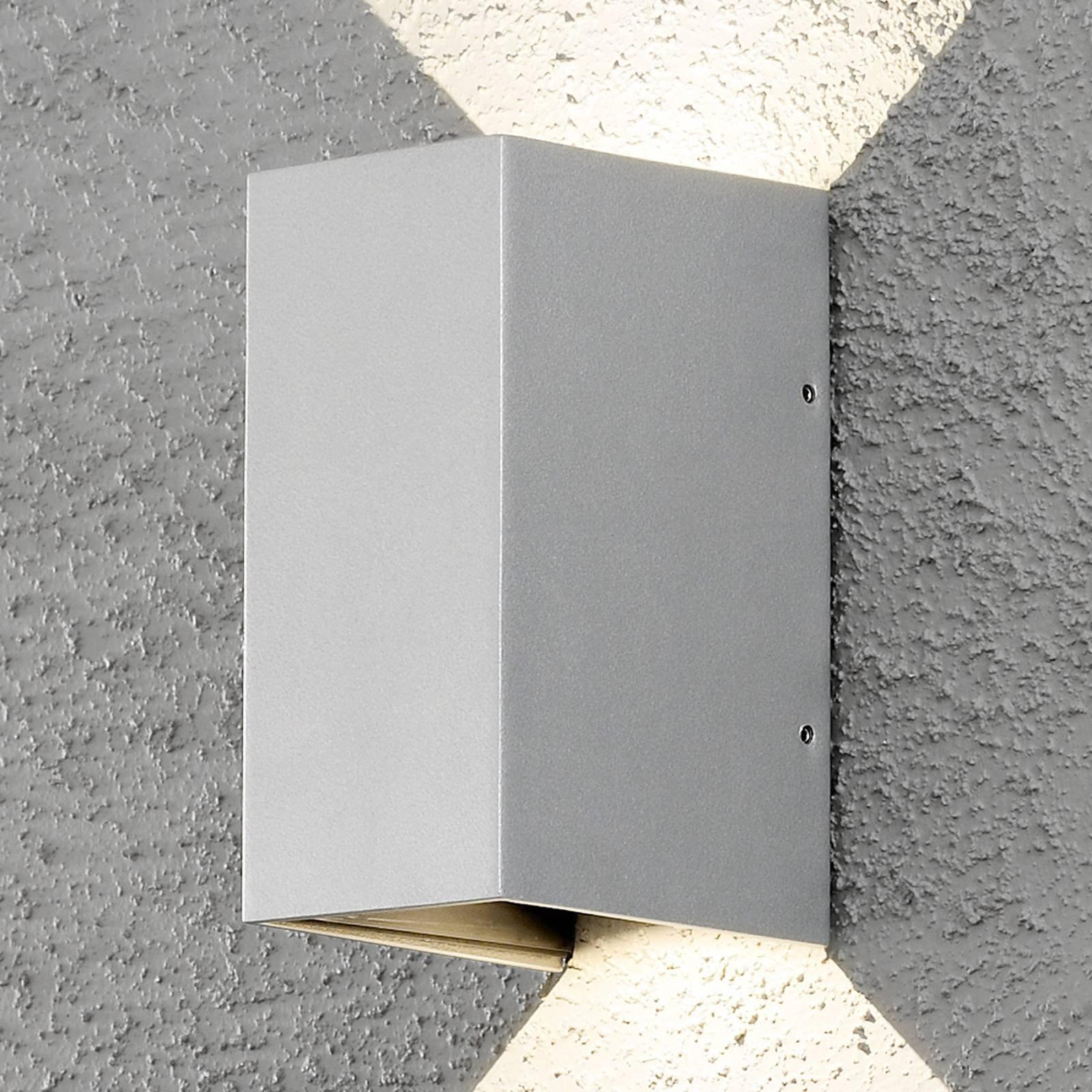Utendørs LED-vegglampe Cremona 8 cm grå